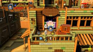 The Lego Movie Videogame: Level 4 Flatbush Rooftops - FREE PLAY - (Pants & Gold Manuals) - HTG
