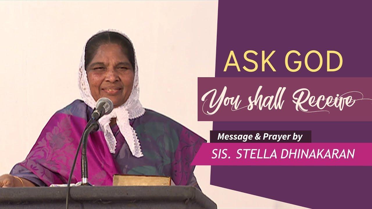 Ask God, You Shall Receive   (English - Hindi)   Sis  Stella Dhinakaran