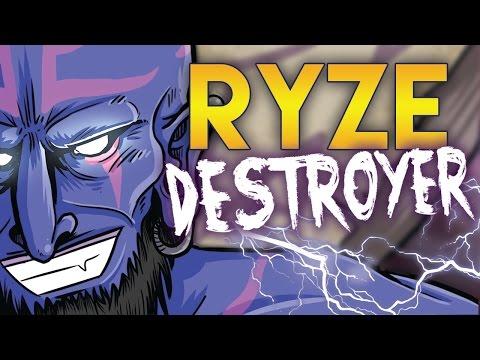 RYZE AD TOP | HUNI STYLE | PITUFO CABREADO (League of Legends) Coolife