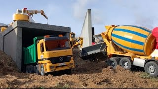 BRUDER TOYS Spielzeug Tunnel Bruder Caterpillar Bagger MACK TRUCK Concrete Mixer