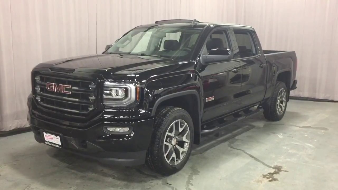 2017 Gmc Sierra 1500 Slt 4wd Crew Cab All Terrain Package Black Oshawa On Stock 170975