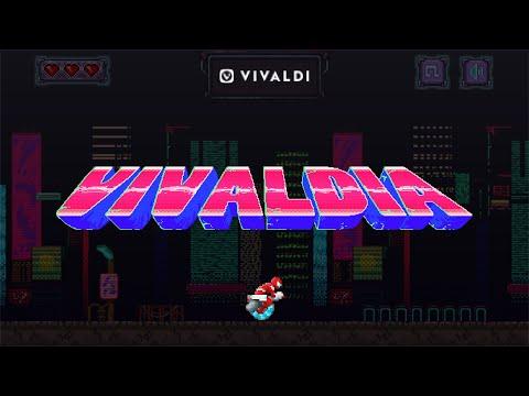 Vivaldia: a real 80s Cyberpunk, arcade-style game from Vivaldi browser