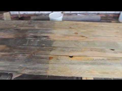 Отбеливание древесины. Выведение грибка. Удаление черноты с доски. как избавиться от грибка.