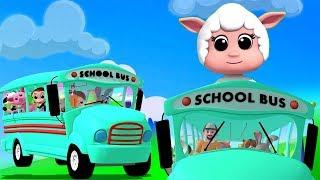 ล้อบนรถบัส บทกวีสำหรับเด็ก เพลงอนุบาล Nursery Songs Poems For Babies Thai Rhymes Wheels On the Bus