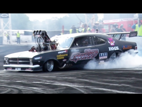 8,000 Horsepower TOP FUEL Burnout Car????
