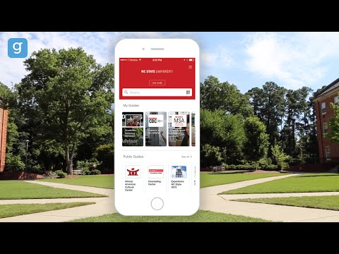 NC State Masters Mobile Campus Apps with Guidebook EDU