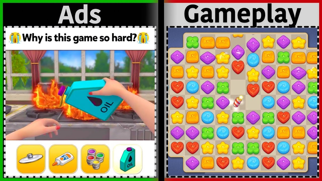 Mobile Game Ads Vs. Gameplay - YouTube