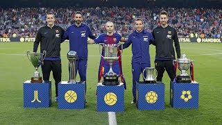 A historic season for fc barcelona as club; the five professional sports teams won their respective copa del rey competitions, something that had never bee...