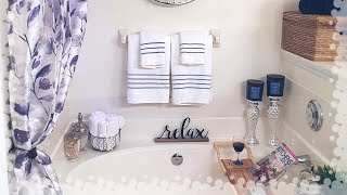 Master Bathroom Decorating Ideas & Tour