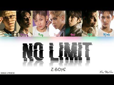 Z-BOYS - No Limit (Color Coded English lyrics) thumbnail
