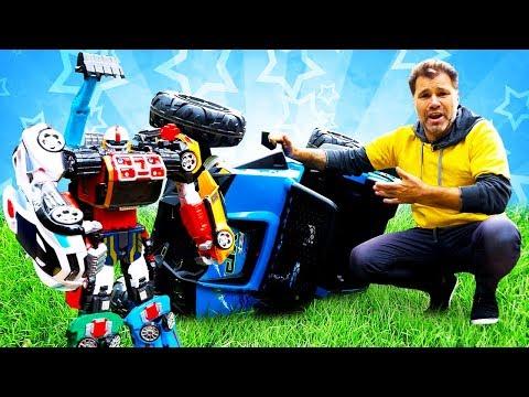 Новое видео для детей. Игры гонки на машинах. Игрушки тоботы для мальчиков.