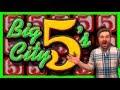 RARE SLOT MACHINE! Big City 5's Slot Machine BONUS BIG WINS W/ SDGuy1234