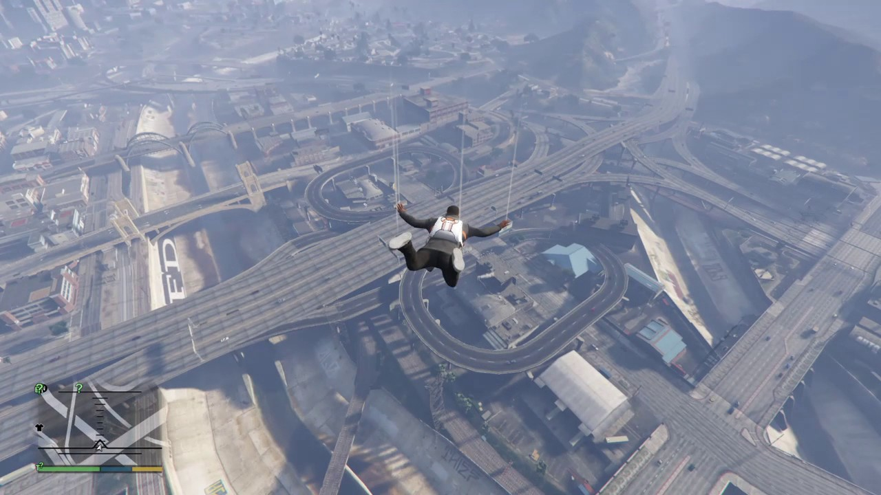 gta 5 parachute how to open