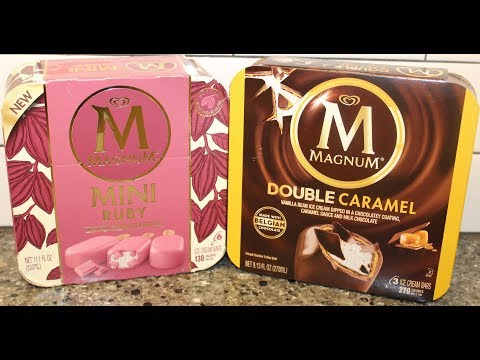 Magnum Ice Cream Bars: Mini Ruby & Double Caramel Review