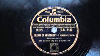 Ray Martin: Dream of Yesterday