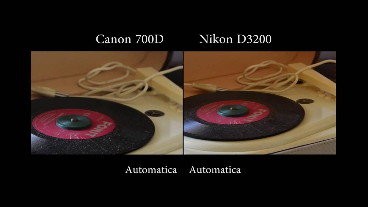 canon eos 700d vs nikon d3200 test fotografico rapido