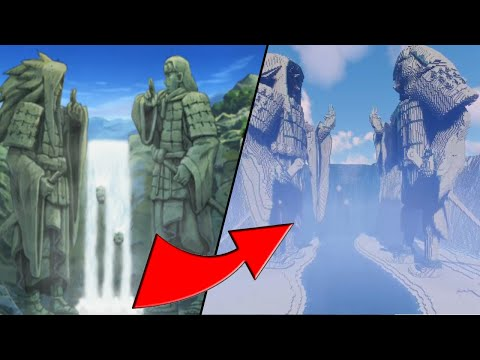 Building Anime's Largest Statue in Minecraft...