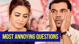 5 ANNOYING QUESTIONS ASKED IN INTERVIEWS | Rajkummar Rao, Kriti Kharbanda | Shaadi Mein Zaroor Aana