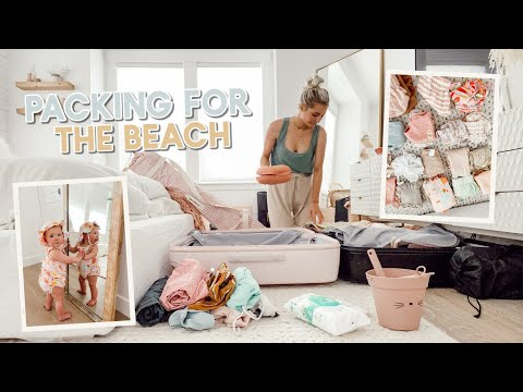 packing for a beach vacation with a baby!