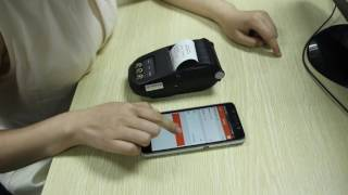 how to use adroid portable bluetooth thermal printer?
