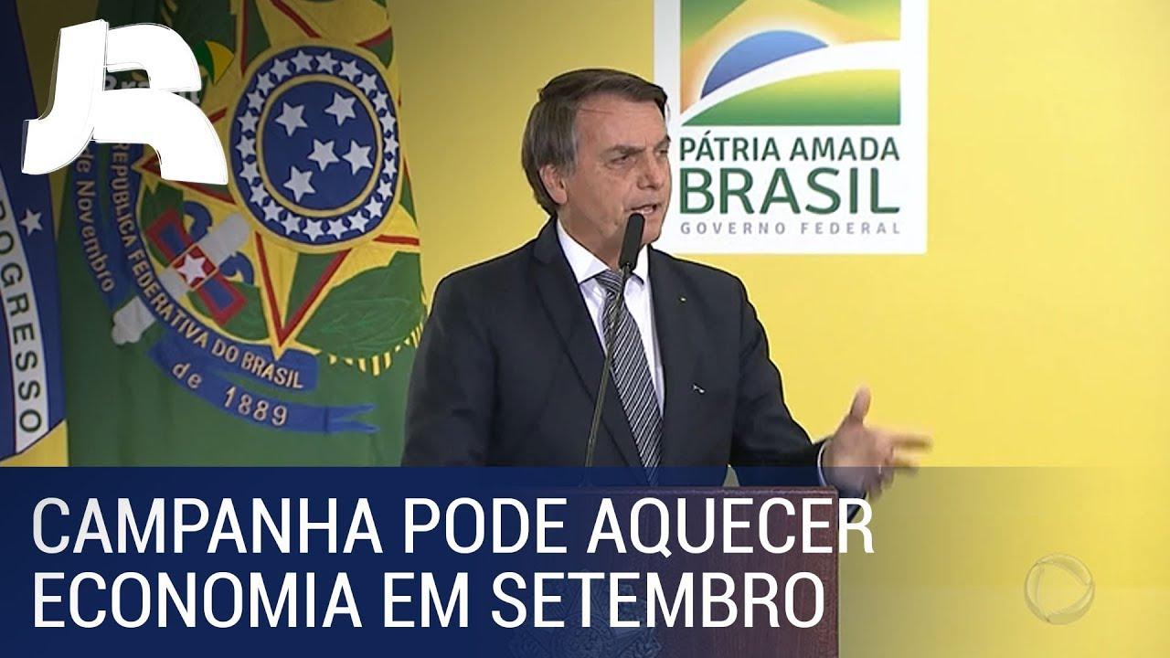 Bolsonaro anuncia campanha para aquecer a economia em setembro