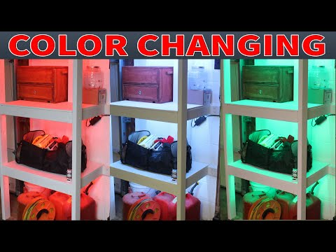 How to Build Storage Shelves with LED Lighting