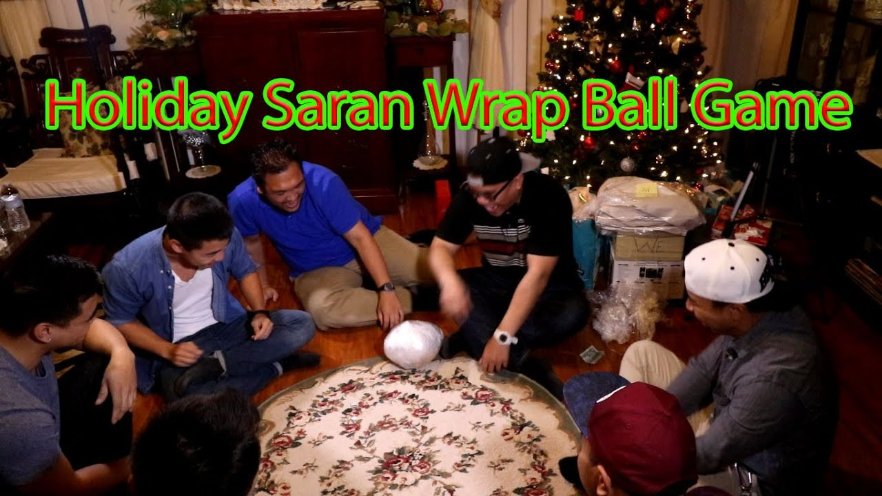 Christmas/Holiday Saran Wrap Ball Game - YouTube