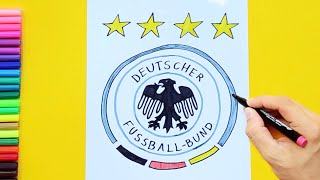 How to draw and color Germany National Football Team Logo