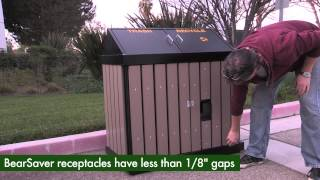Rodent Proof Trash Cans & Animal Proof Waste Receptacles - Securr