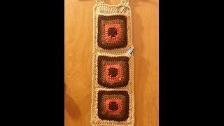How To #crochet Granny Square Wall Hanging Organizer #tutorial Craft Ideas Crochet Project
