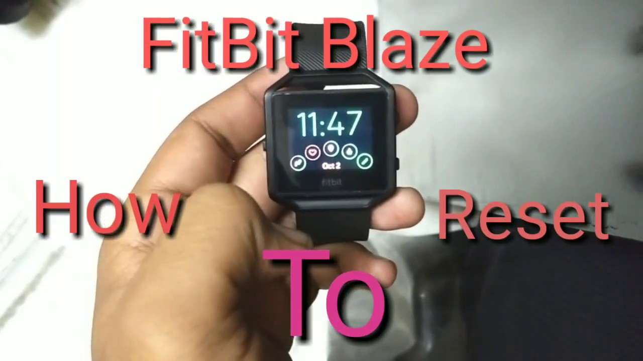 How do you hard reset a fitbit blaze