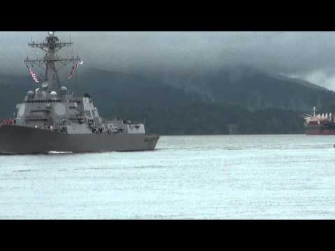 USS William P. Lawrence In Route To The Rose Festival