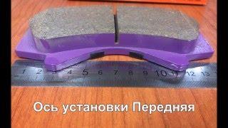 Колодки тормозные дисковые передние, комплект NIBK PN1541