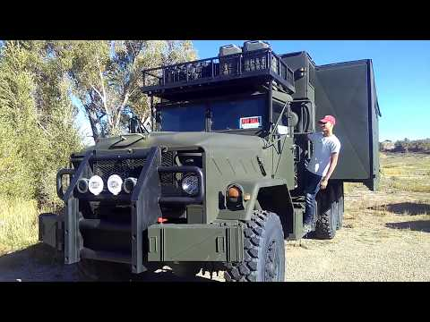 M 934 A2 Expansion Command Truck - 6WD - Zombie Apocalypse Ultimate Bugout Vehicle