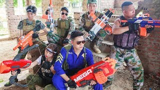 LTT Nerf War : SEAL X Warriors Nerf Guns Fight Attack Criminal Group Rescue Street Fighter