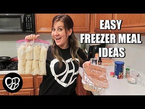 EASY FREEZER MEAL PREP | 2 BREAKFAST & DINNER FREEZER MEALS | PHILLIPS FamBam COOK WITH ME