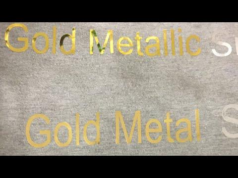 Difference between  Siser metallic HTV line & Metal HTV