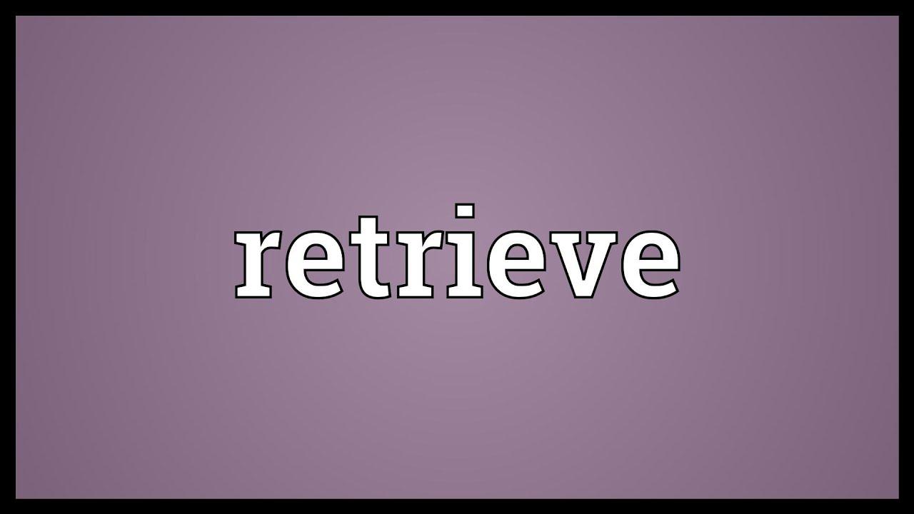 Retrieve Meaning