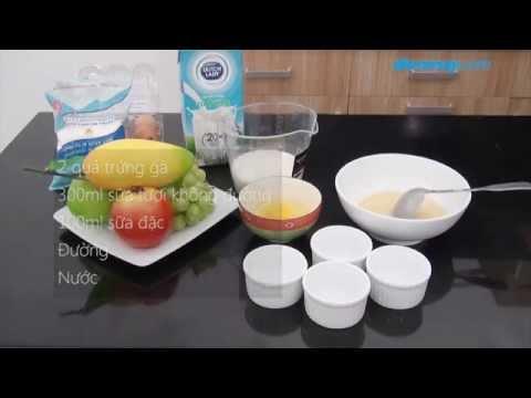 3 bước làm bánh Flan bằng lò vi sóng