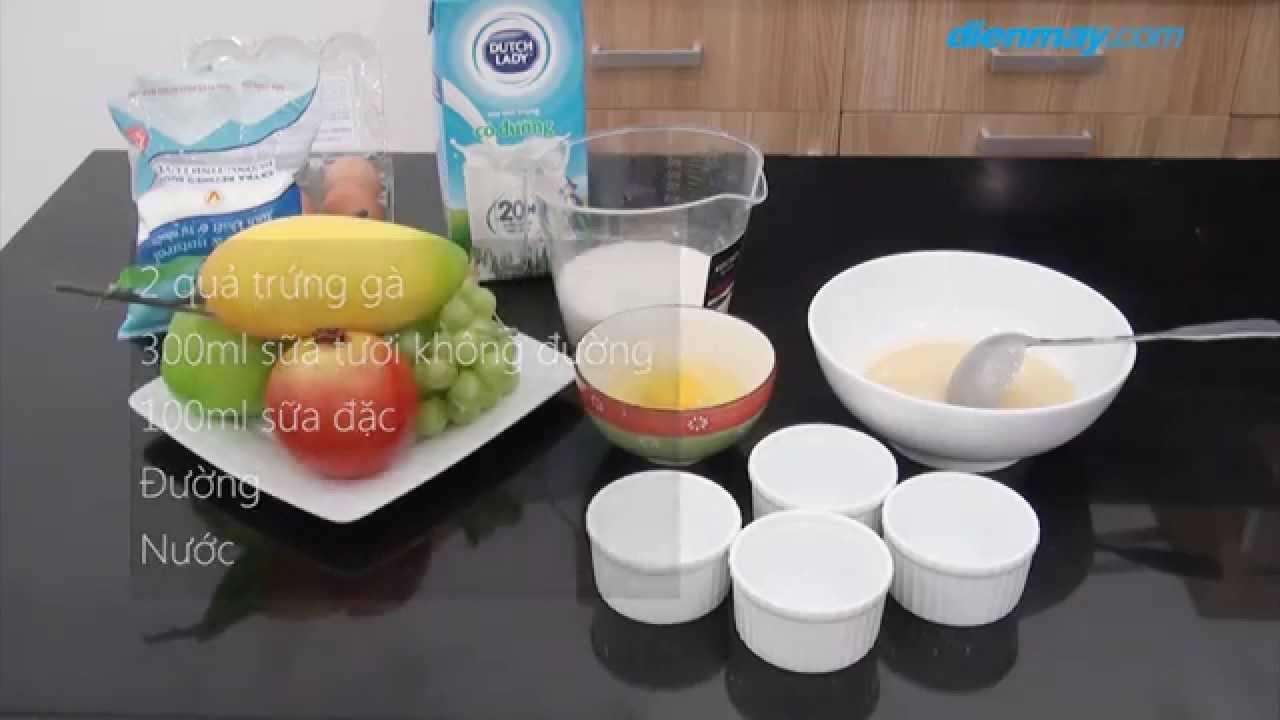 3 bước làm bánh Flan bằng lò vi sóng | Điện máy XANH