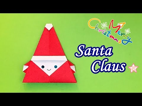 How to Fold a Paper Santa Claus | Easy Origami Santa Claus Tutorial No Glue and Scissors!