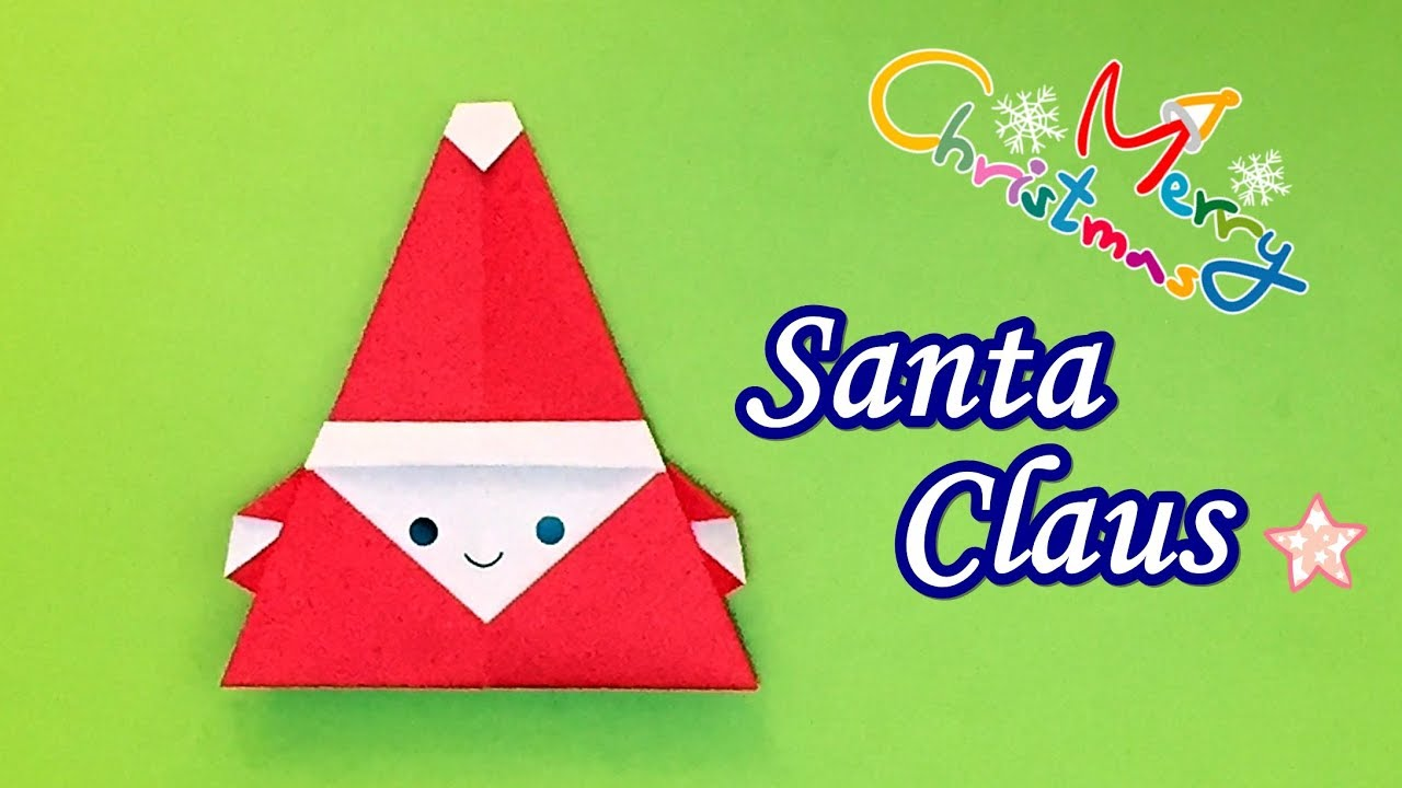 How to Make a Cute Origami Santa | 720x1280