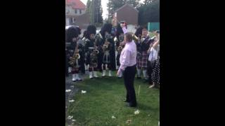 John Robertson conducting Lowland Band, Royal Regiment of S