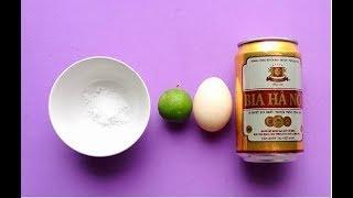 Hướng dẫn cách TẮM TRẮNG toàn thân (không lo bắt nắng) bằng bia và trứng gà