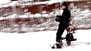 Roller Cycle Tracker for Skis in the Snow- Second Test