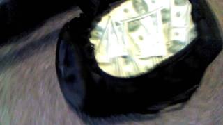 Duffle bag full of money
