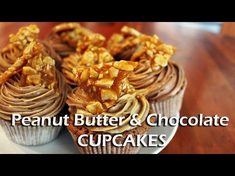 Peanut Butter And Chocolate CUPCAKES!
