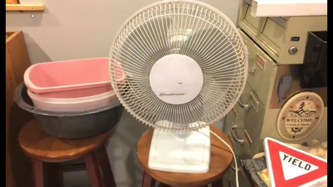 Windmere Table Fan : Windmere kd quot oscillating fan youtube