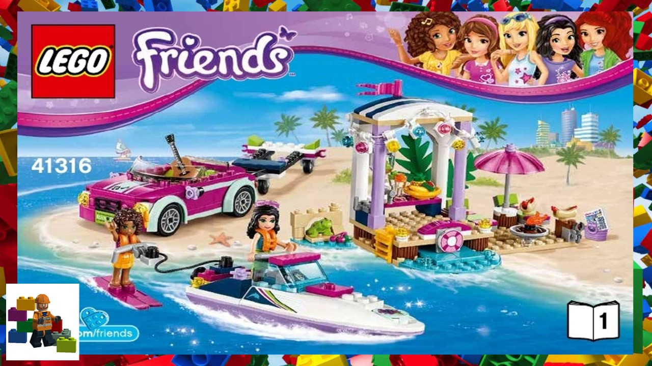 Lego Instructions Friends 41316 Andreas Speedboat Transporter