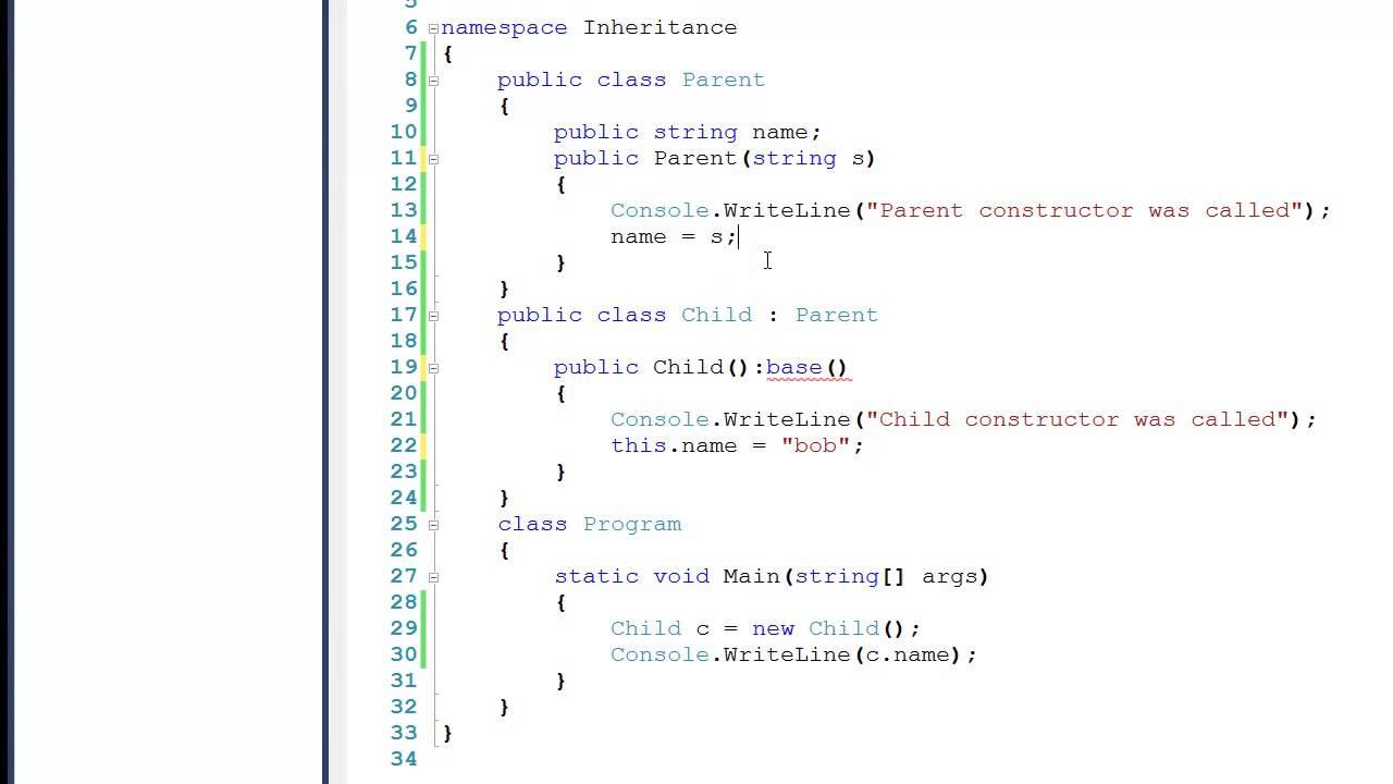 Tutorial 6 Inheritance In C Code Example Youtube